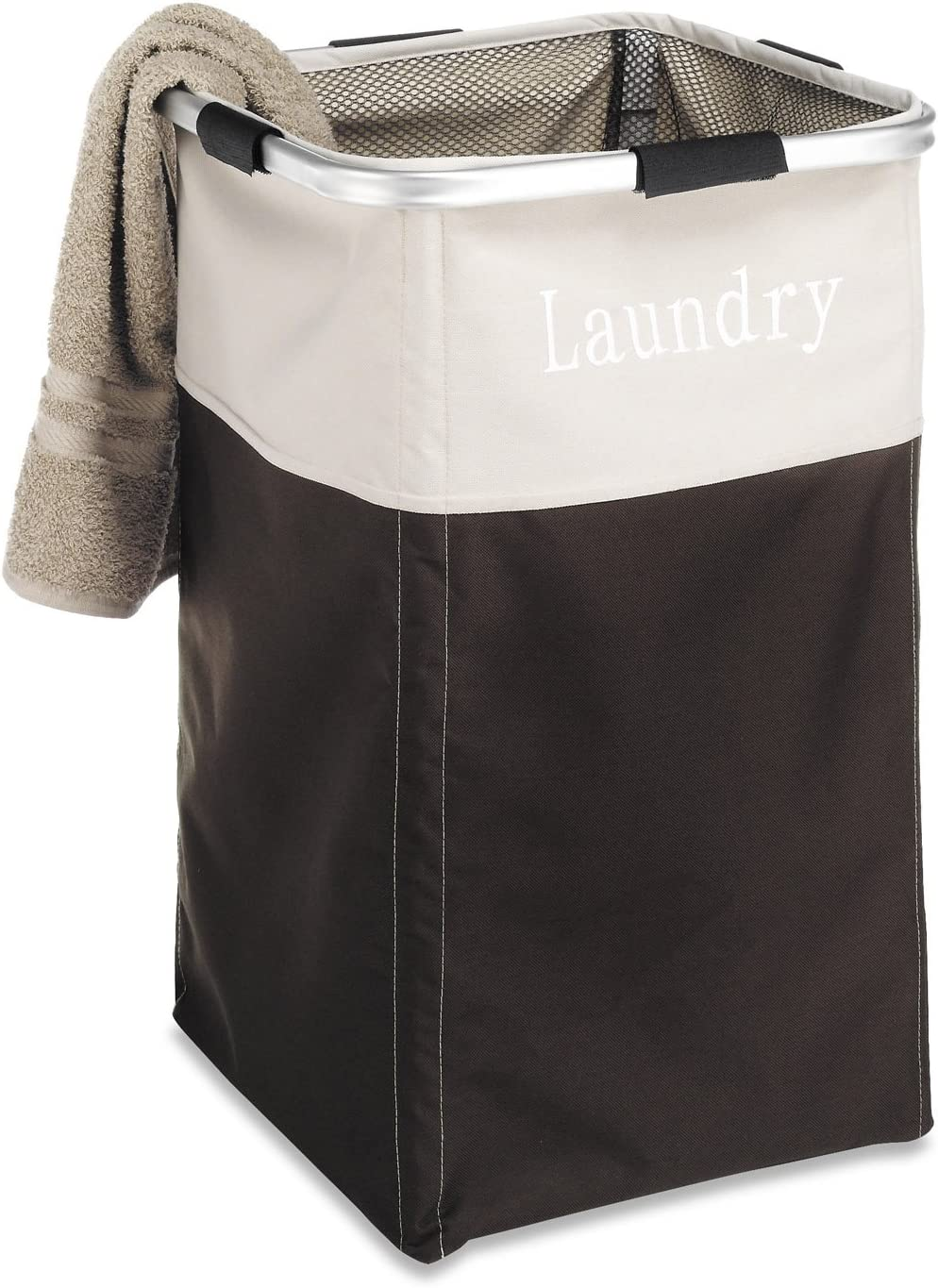 Whitmor Easy Care Laundry Hamper - Espresso