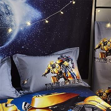 FAIRY KAARI Transformers Boys Bedding Set Heros Cartoon for Kids Or Teens Anime Fans Transformers Duvet Cover 100/% Cotton 4PC Bedding 1Flat Sheet 1Duver Cover 2PC Pillowcase (NO Comforter Includes)