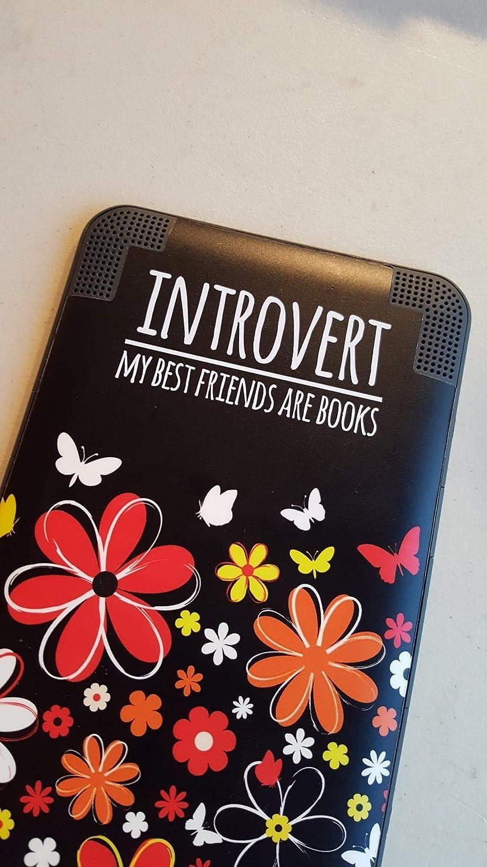 CLIFFBENNETT Introvert e-Reader Decal - Book Lover Vinyl Laptop Sticker- Introvert MacBook Decal - Kindle Decal - Funny Vinyl Decal for car