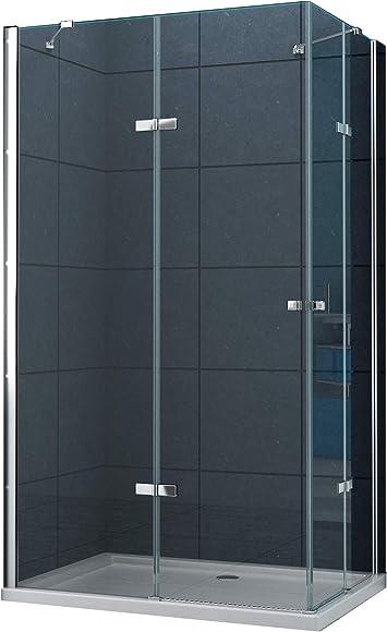 La entrada en curva Cabina de ducha Ducha Monett 90 x 75 x 200 cm / 8 mm / con plato de ducha: Amazon.es: Bricolaje y herramientas
