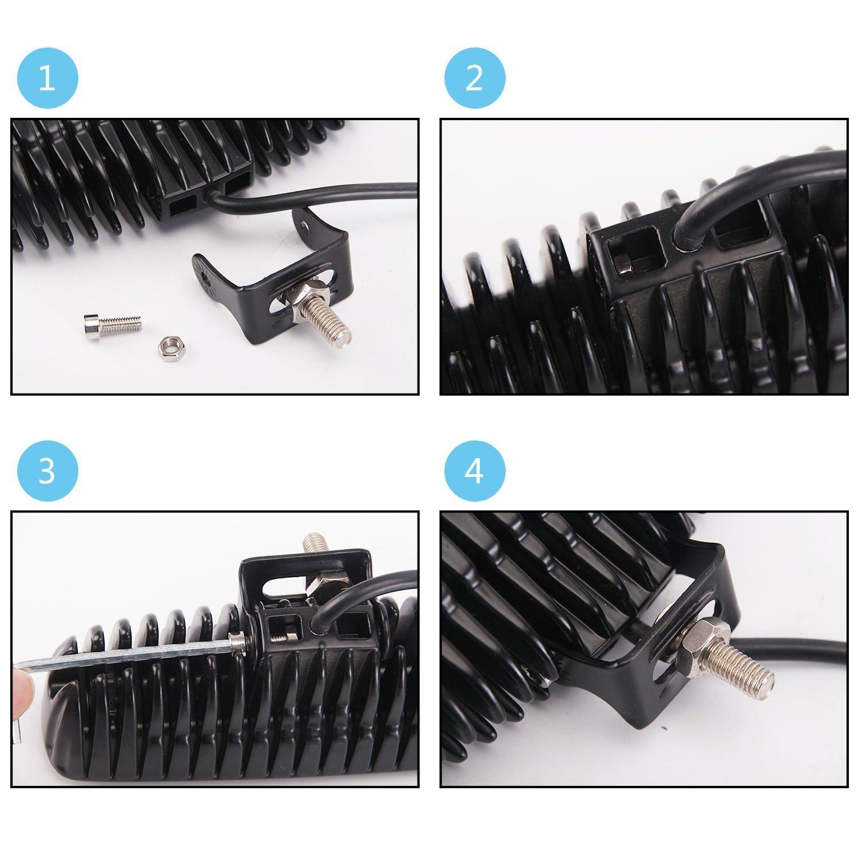 2x 18W Spot Arbeitsscheinwerfer Streifen Off-Road Light Bar, Fahren Nebelscheinwerfer IP67 Wasserdicht f/ü r Gel/ä nde, LKW, Auto, ATV /(Spot/) JHT