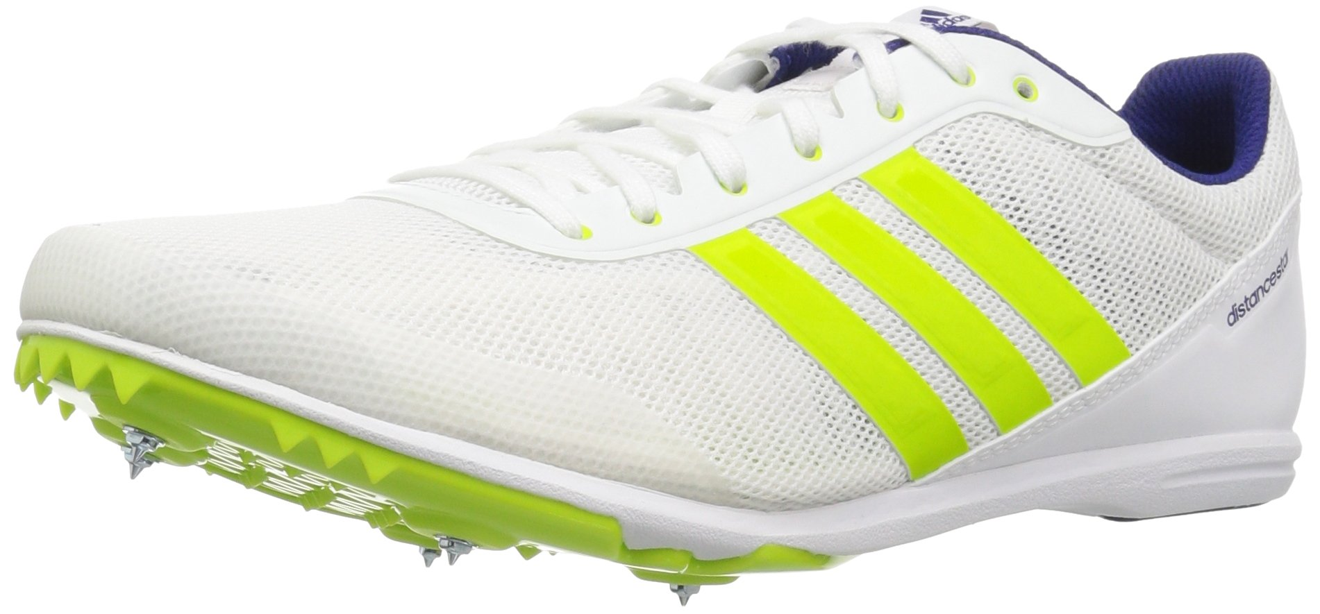 adidas Women's Distancestar w, White/Hi-Res Green/Real Purple, 6.5 M US