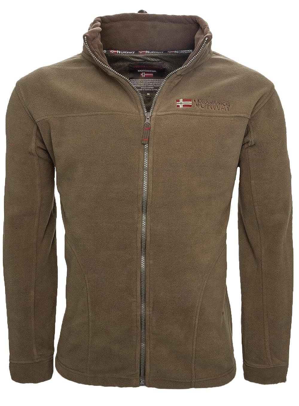 TALLA XXL. Geographical Norway Forro polar caliente para hombre, chaqueta de invierno, chaqueta de entretiempo, exteriores