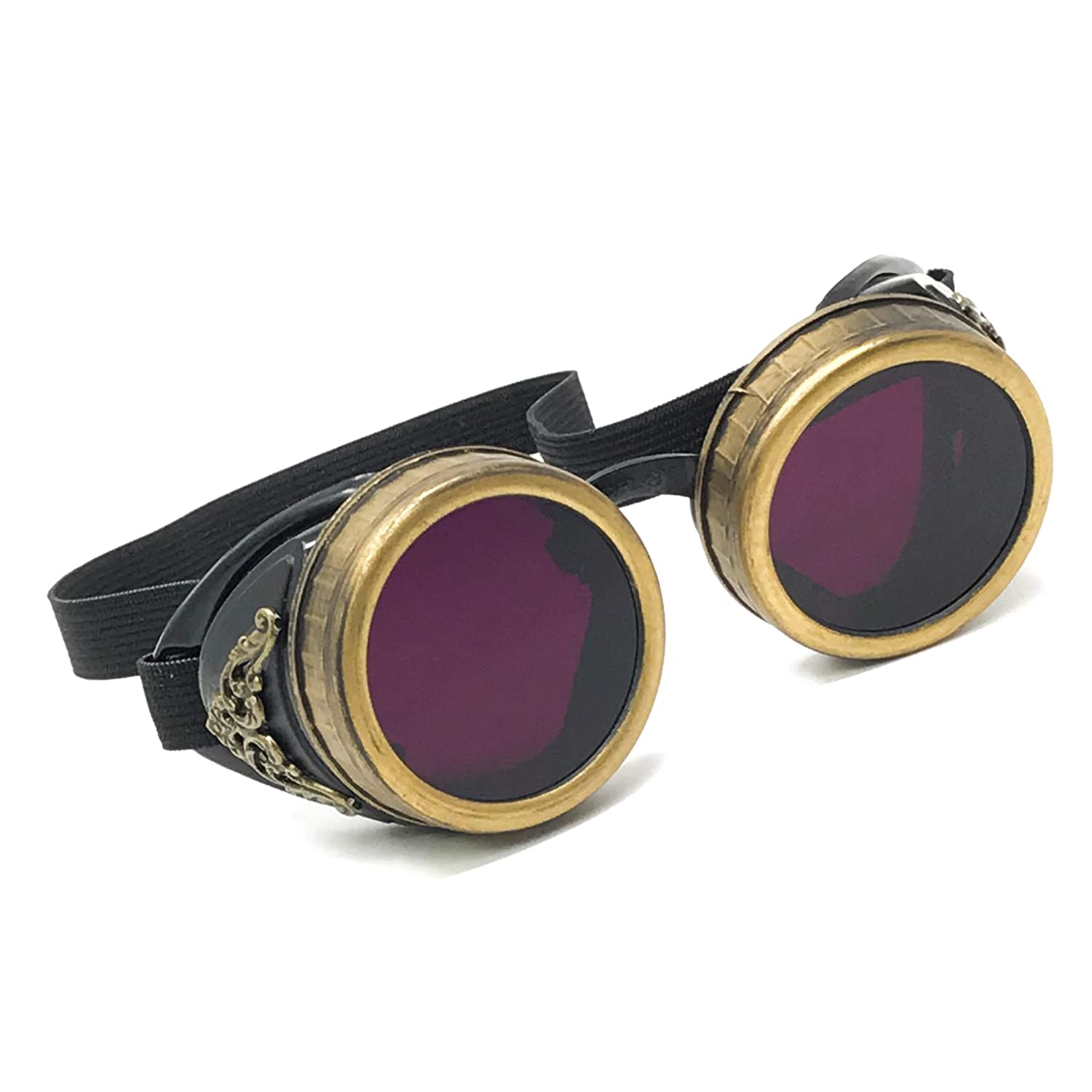 Red and Gold STEAMPUNK IRON MAN Goggles Great for Halloween Cosplay Costume or Birthday Gift