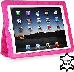 StilGut Executive Case, custodia in pelle pregiata per Apple iPad 3 & iPad 4, rosa