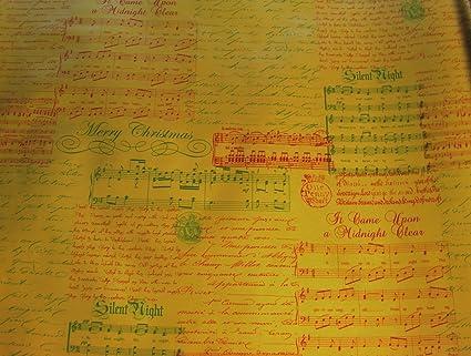 Christmas Carol Musical Script.Amazon Com Christmas Carols Musical Script On Gold Foil