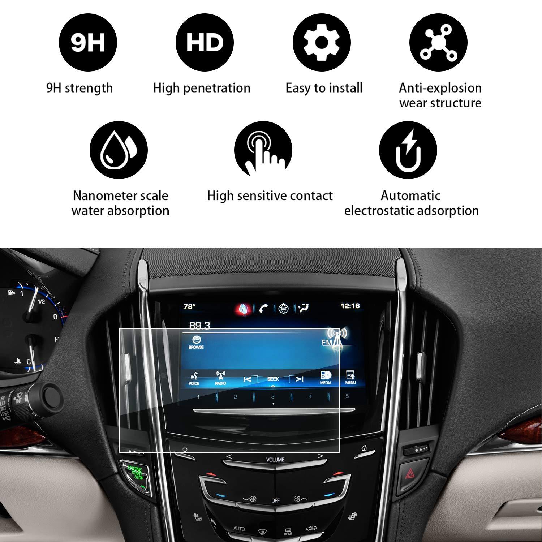 YEE PIN 2013-2018 Cadillac ATS Cadillac SRX 8 Inch CUE Infotainment Interface Screen Protective Glass