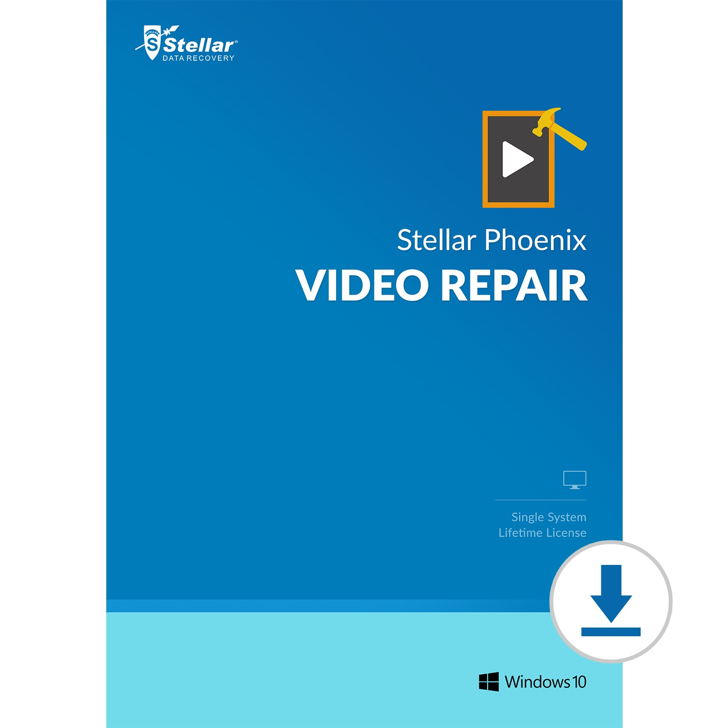 Stellar Repair for Video for Windows|Repair All Damaged Video File formats|1 Device - 1 Year Subscription|2019 Ready [Download Code]