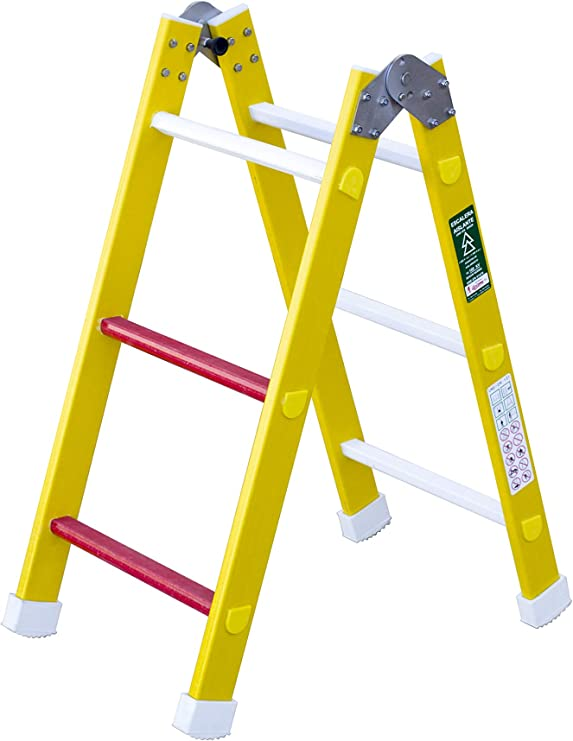 Escalera aislante de un tramo plegable. Permite su uso como ...