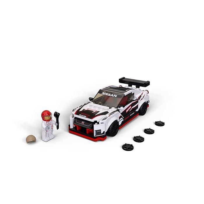 71H11DFyRtS Una oportunidad única de poseer una réplica LEGO con detalles de gran realismo del legendario Nissan GT-R NISMO. Es el regalo perfecto para los apasionados de la construcción de juguetes, ¡y de conducirlos en veloces carreras! El Nissan GT-R NISMO en versión construible y 1 minifigura con mono de competición Nissan. Esta maqueta fascinará a niños y fans de los coches, y les abrirá las puertas tanto al juego independiente como a la posibilidad de organizar carreras con sus amigos. La miniversión del Nissan GT-R NISMO (novedad en enero de 2020) se puede construir y exponer, o usar para competir contra otros coches LEGO Speed Champions.