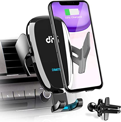 Mikikin Auto-Clamping Qi 10W 7.5W Fast Charging Car Phone Holder Air Vent Compatible with iPhone X//XR//Xs//Xs Max//8//8 Plus Wireless Car Charger Mount Samsung S6//S7//S8//S9 Edge+ Note 7//Note 8 /& More