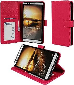 Abacus 24-7® Huawei Ascend Mate 7 Funda flip/ Funda de cuerina con cierre magnético y función de soporte, Rosa: Amazon.es: Electrónica