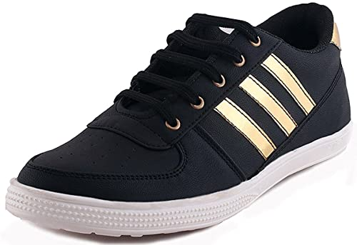 2636117bd1d REVOKE Ghost Rider Golden Black Casual Shoes  Buy Online at Low Prices in  India - Amazon.in