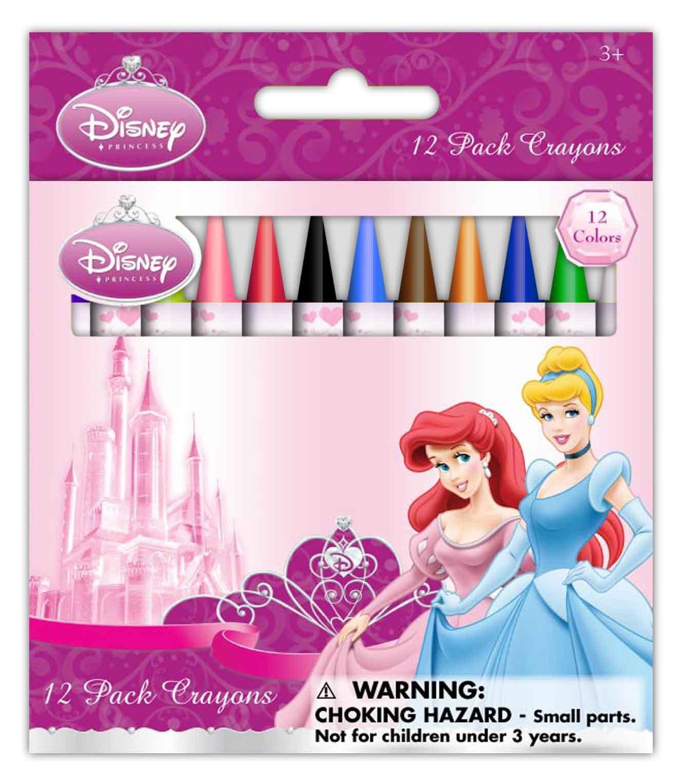 Princess 12 pack wax crayons (4569A)