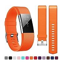 Kutop Fitbit Charge 2 Bracelet, Remplacement du Bracelet de Montre en TPU Silicone Molle Sportif et Réglable pour Fitbit Charge 2