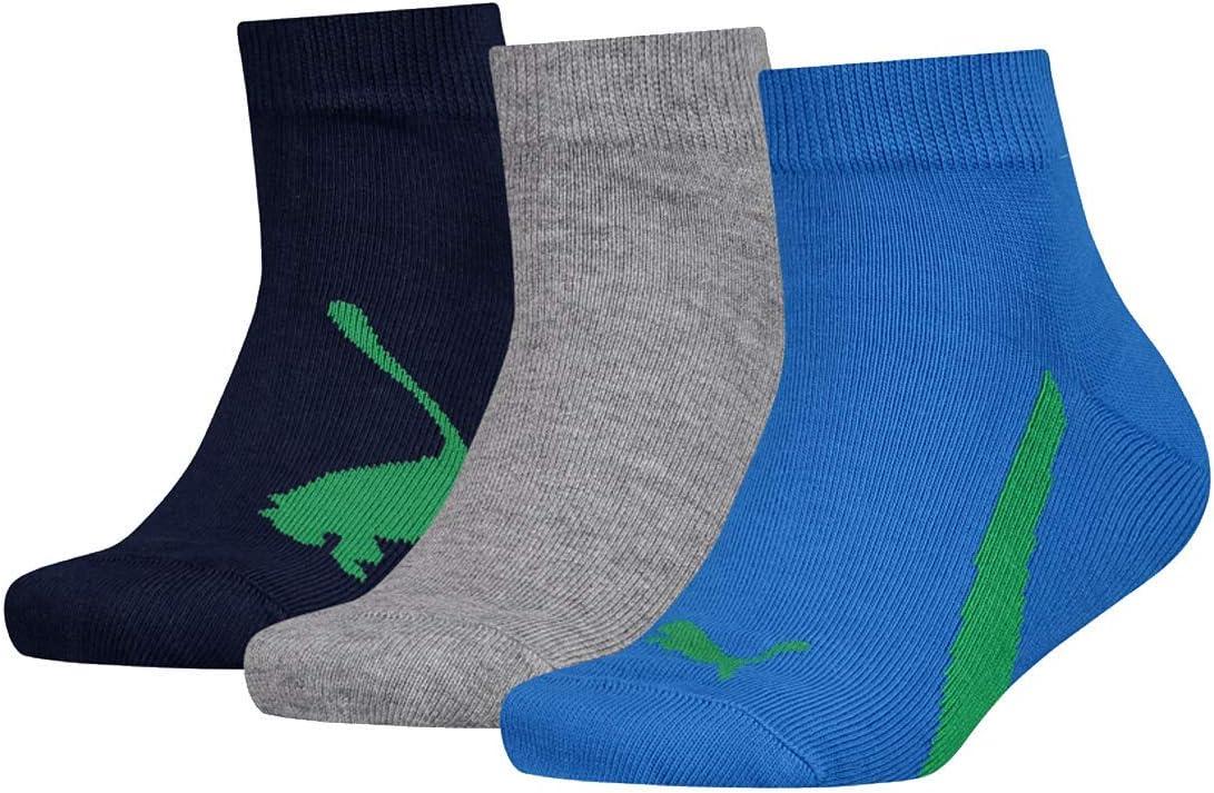 PUMA Kinder Socken Lifestyle Quarters 3er Pack dunkelblau//blau