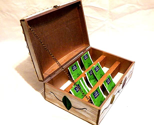 Amazon.com: Wooden Tea Box, Tea Organizer, Wood Tea Bag Organizer, Tea Infuser, Wood Tea Box, Customized Tea Box, Personalized Tea Box, Gift Mom Tea Box: ...