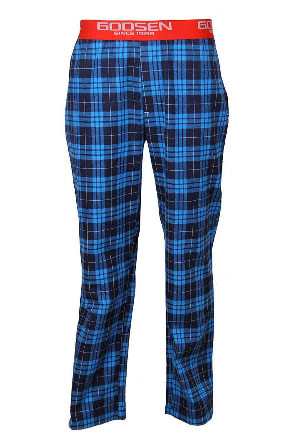 Godsen Men's 100% Cotton Flannel Pajama Pants Lounge Bottoms GC15002