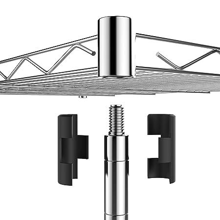 Ncient Drahtregal mit 5 Metallböden und 4 Rädern Metallregal 59 x 35 ...