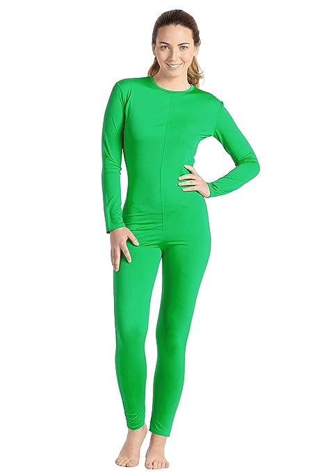 gran venta de liquidación sitio autorizado mirada detallada Mono Color Verde Spandex S