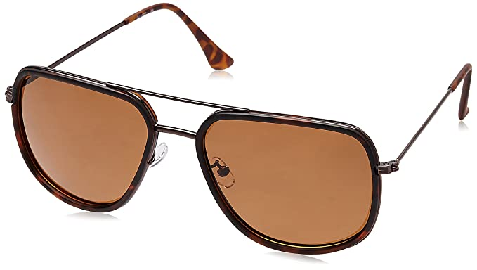 777bbb69373d Titan Polarized Aviator Men's Sunglasses - (GC268BR2P|59|Solid Brown ...
