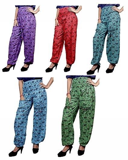 Apparels India 5pcs Cotton Striped Trousers Hippie Harem UK Pants Wholesale Lot