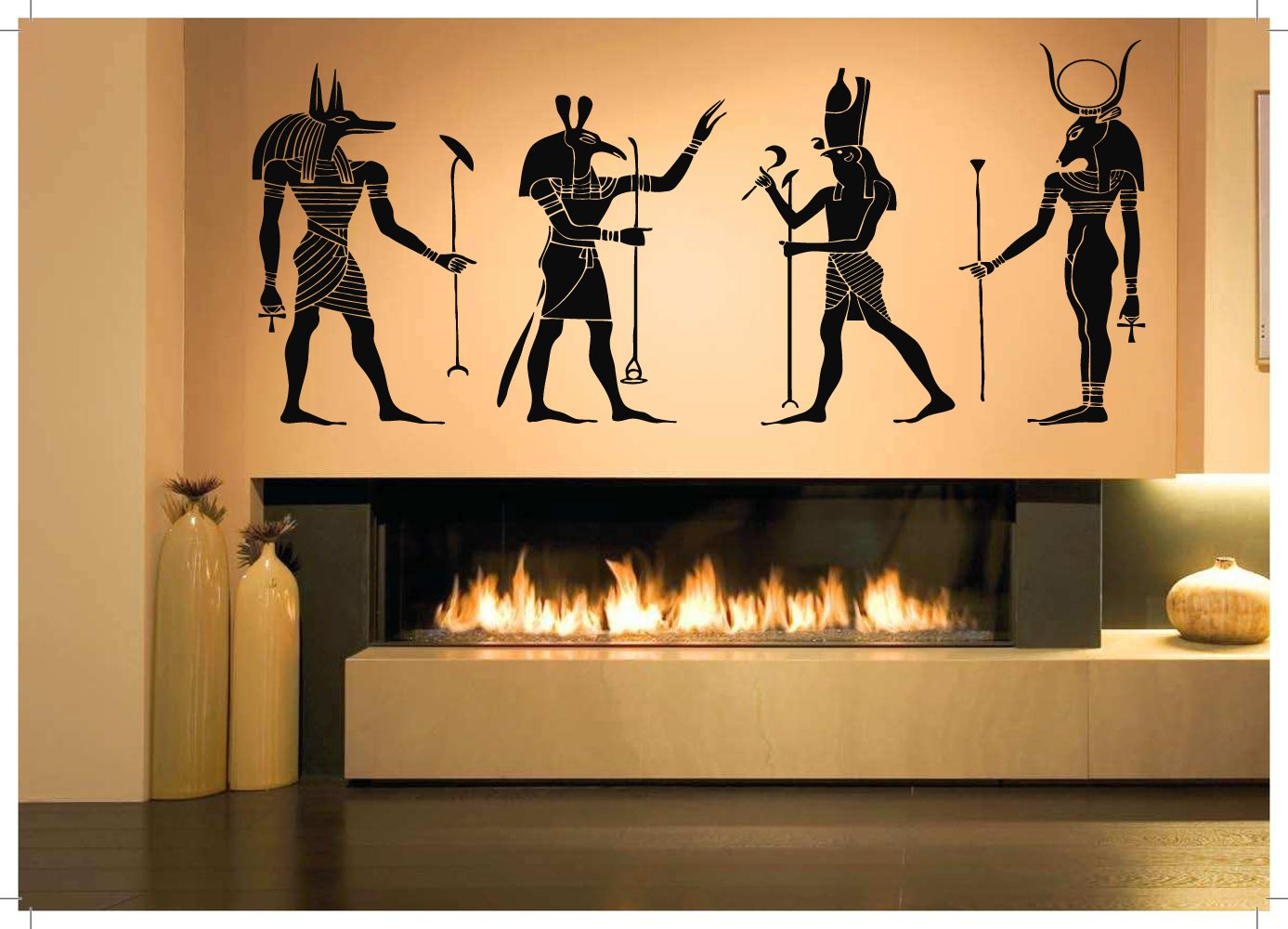 Amazon.com: Wall Room Decor Art Vinyl Sticker Mural Decal Egyptian ...