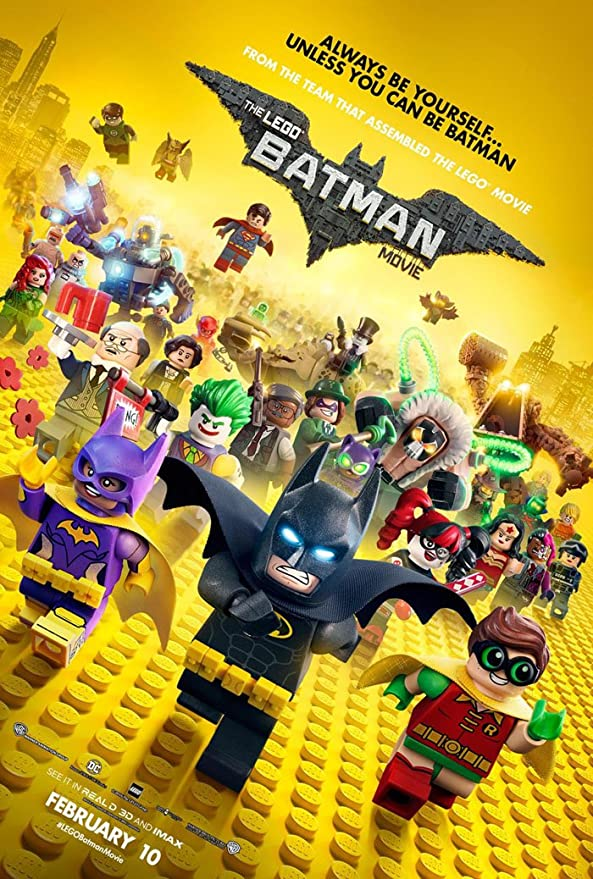 A4 Sections or Giant 1Piece Lego Batman Movie Giant Wall Art Poster Print A3