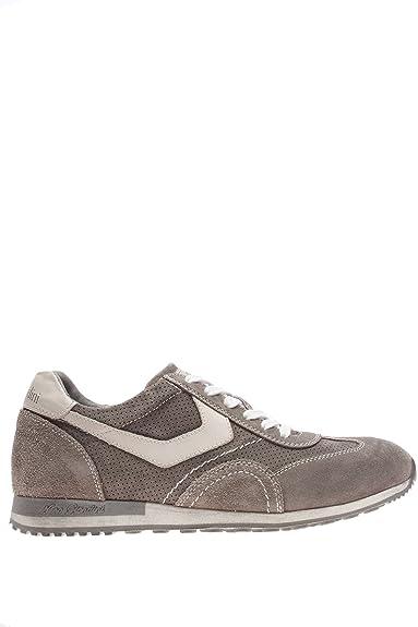 Nero Giardini Homme-Sneaker P604042U 122 Chaussures en Daim - Gris - Sasso, 42 EU