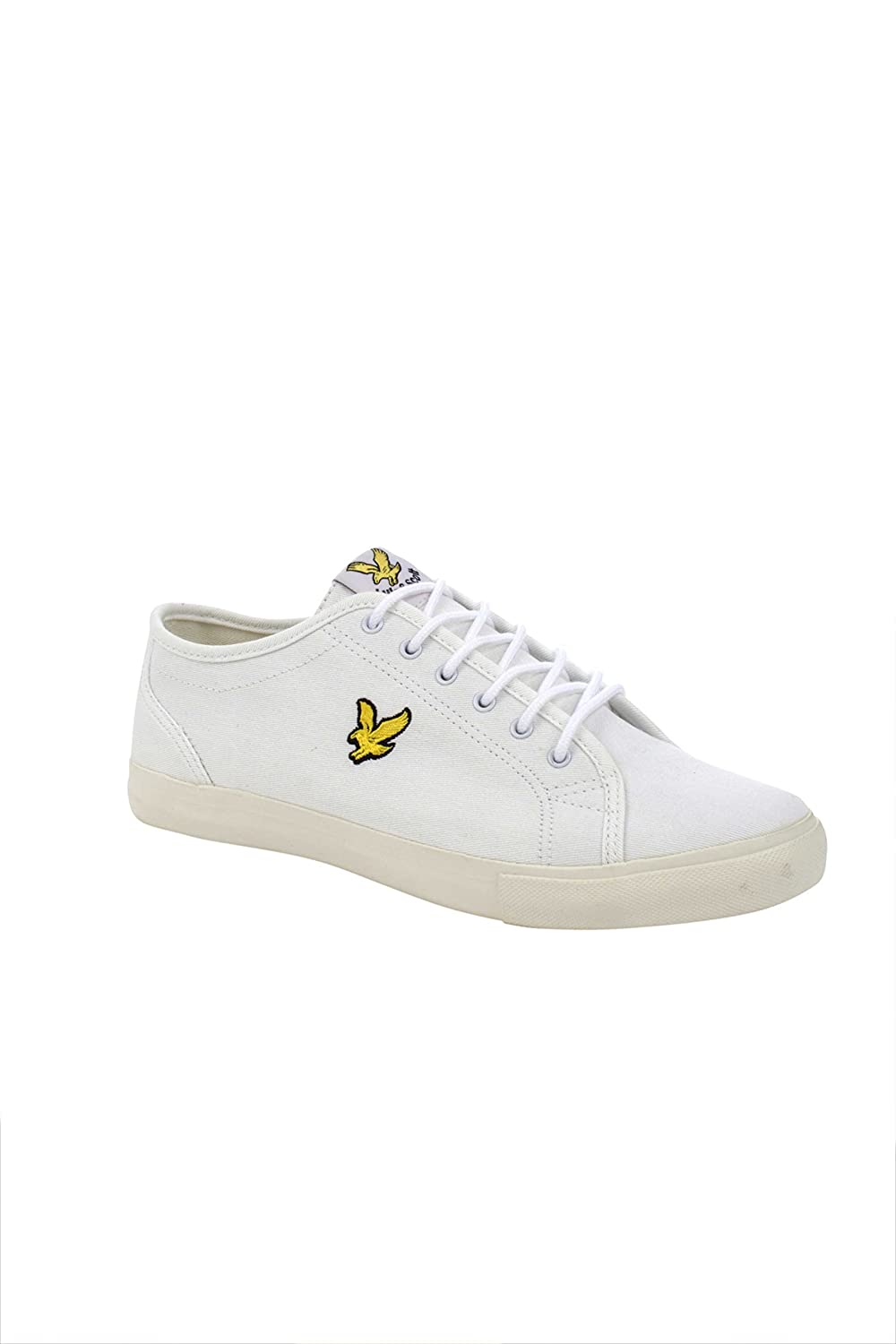 b906fcc56a2c Lyle   Scott Teviot Twill Canvas Plimsoll White (12)  Amazon.co.uk  Shoes    Bags