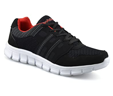 sale retailer 3dcb6 fe7d6 Pro Action Mens Casual Walking Running Gym Sports Shock Absorbing Lace up Trainers  Shoes Size