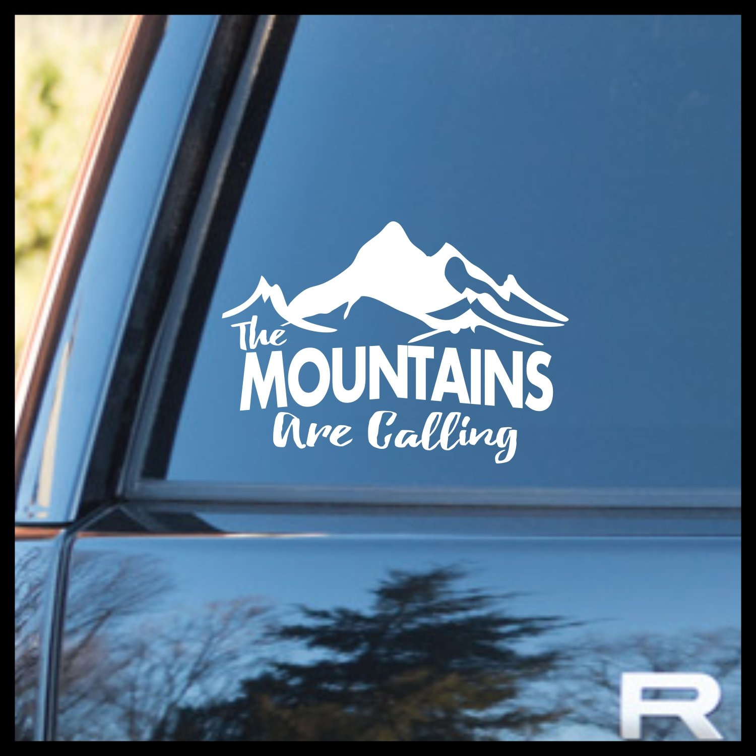 The Mountains Are Calling, Nature Calls Mirror Motivation Vinyl Car Decal