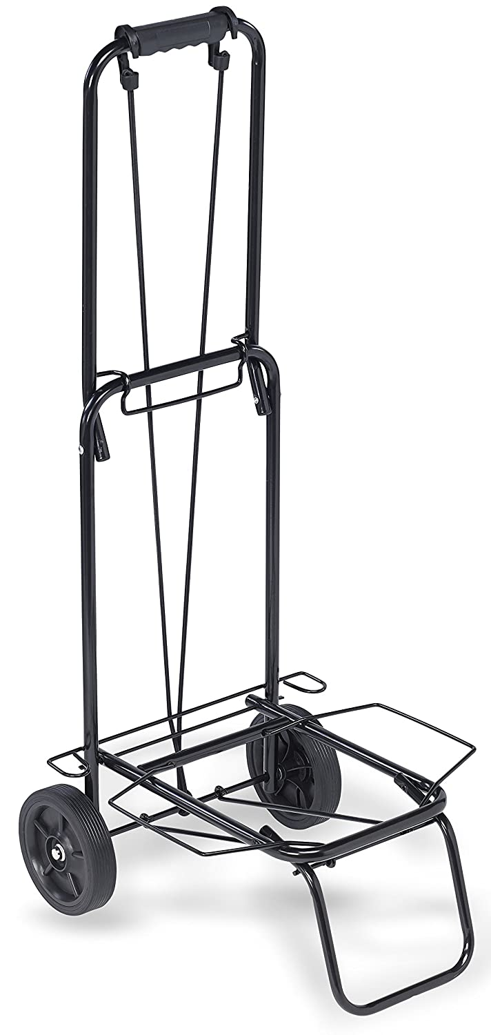 """TOP PACK"" 75 lbs.Premium Folding Lightweight Shopping Grocery Luggage laundry Cart - Black"