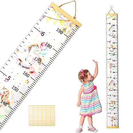 Medidor de Altura Infantil SEELOK Gráfico de Crecimiento Unicornio ...
