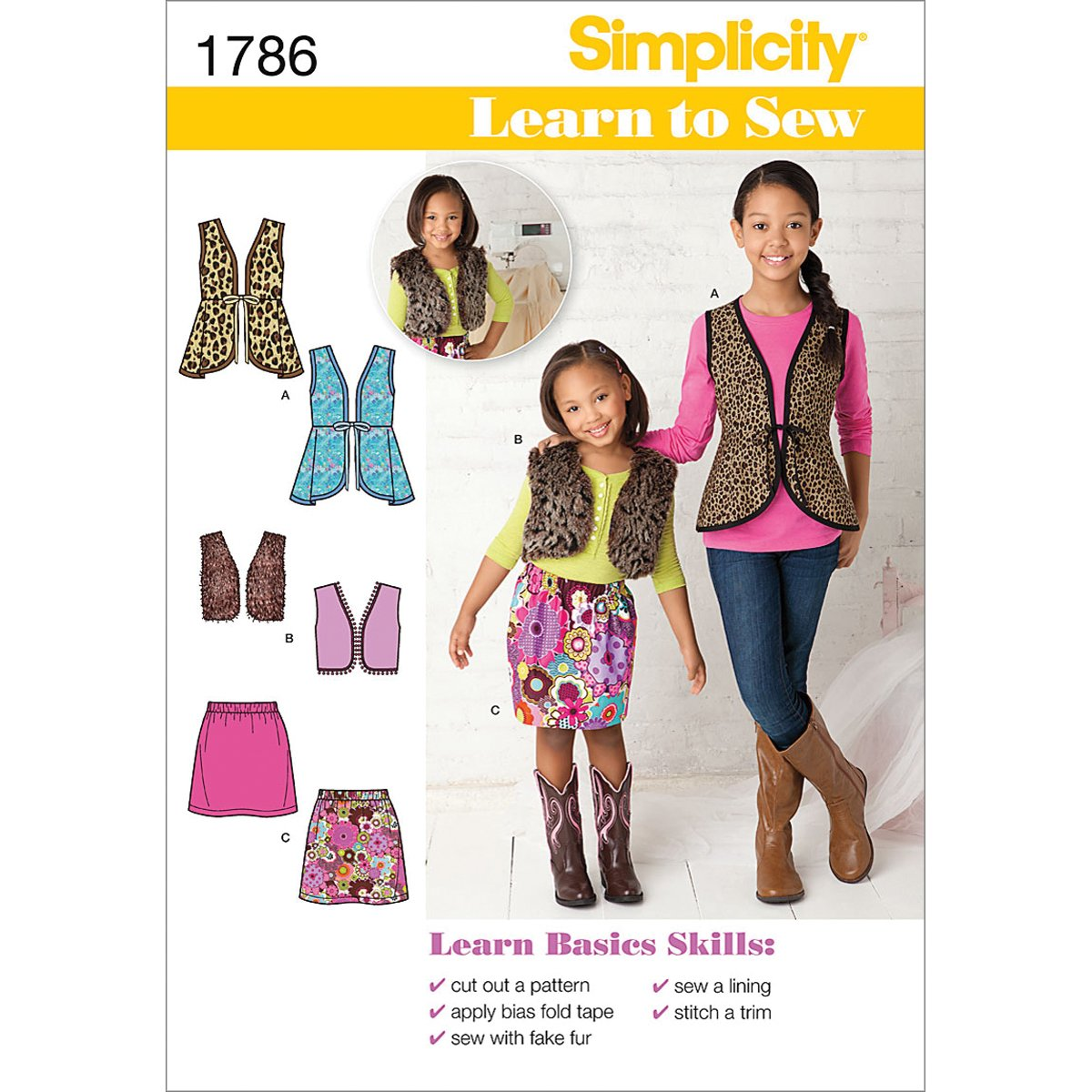 Amazon.com: Simplicity 1786: Learn to Sew Child\'s and Girls ...