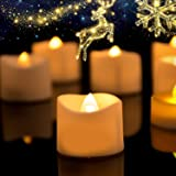 Homemory LED Candles, Lasts 2X Longer, Realistic Tea Lights Candles, LED Tea Lights, Flickering Bright Tealights…