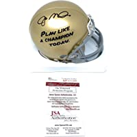 $119 » Joe Montana Notre Dame Fighting Irish Signed Autograph Play Like A Champ Mini Helmet JSA…