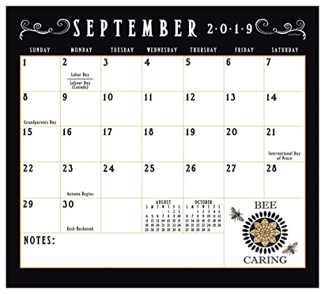 U Of A Calendar 2019 Amazon.: 2019 Magnetic 12 Month Calendar Pad, Bee u tiful Life