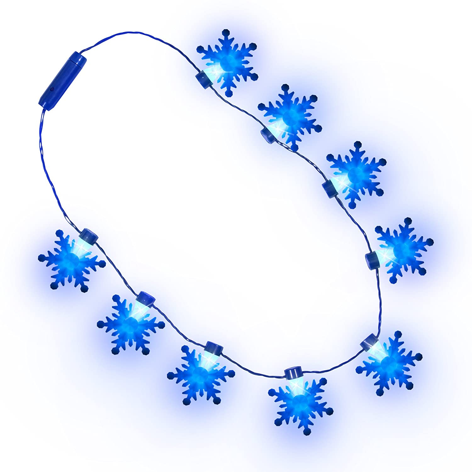 Frozen Snowflake Light-up Necklace Blue