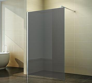 Walk in Duschabtrennung | Grauglas | Duschwand | Dusche Glas ...