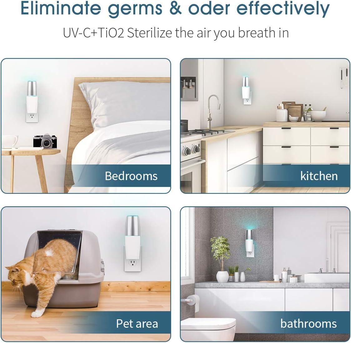 Portable UV Light Sanitizer, Eliminates Germs & Odor with UV-C Light Kill Airborne Viruses for Bedrooms, Kitchen, Bathroom, Pet Area, Nursery: Kitchen & Dining
