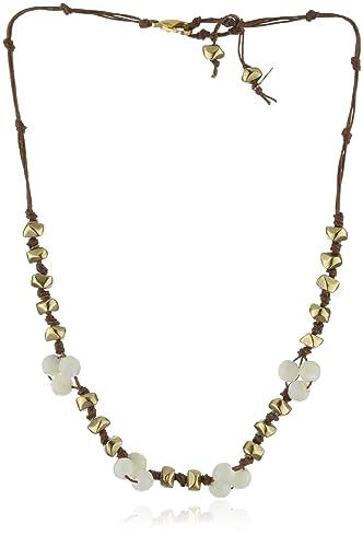 Amazoncom in2 design Hanna MotherOfPearl Gold Nugget Necklace