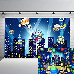Comics 12x10 FT Vinyl Photography Background Backdrops,Superhero Fast Furious Relaxing in Bubble Bath Shower with Rubber Duck Art Print Background for Photo Backdrop Studio Props Photo Backdrop Wall