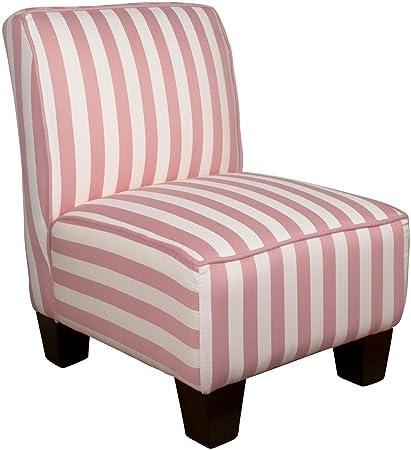 Phenomenal Amazon Com Skyline Kids Armless Chair Canopy Stripe Pink Pdpeps Interior Chair Design Pdpepsorg