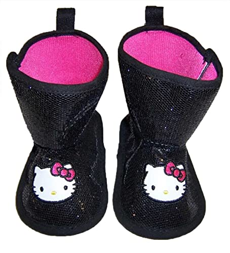 Infant Toddler Hello Kitty Black Soft Sole Boots