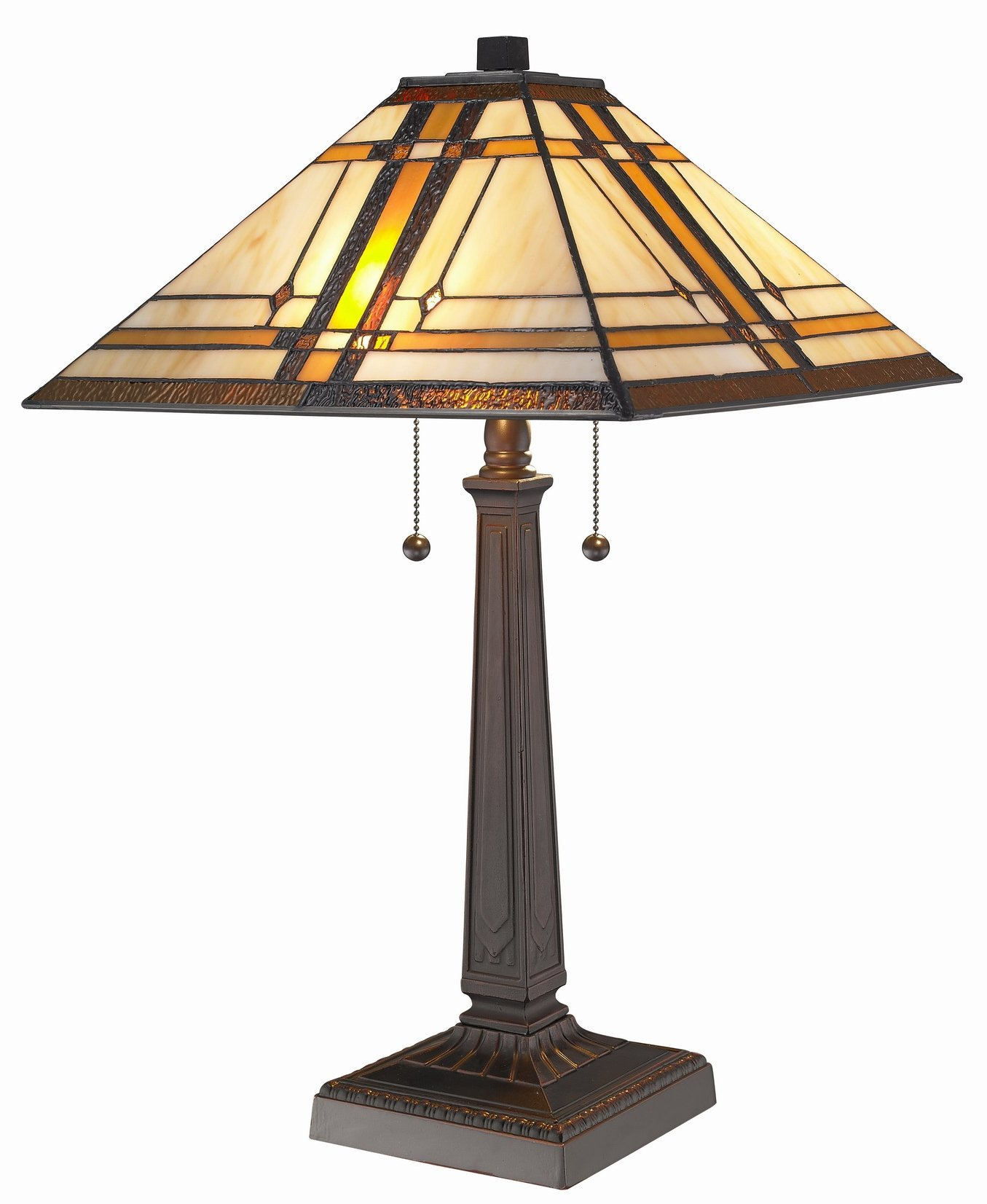Amora Lighting AM1053TL14 Tiffany Style Mission Design Table Lamp