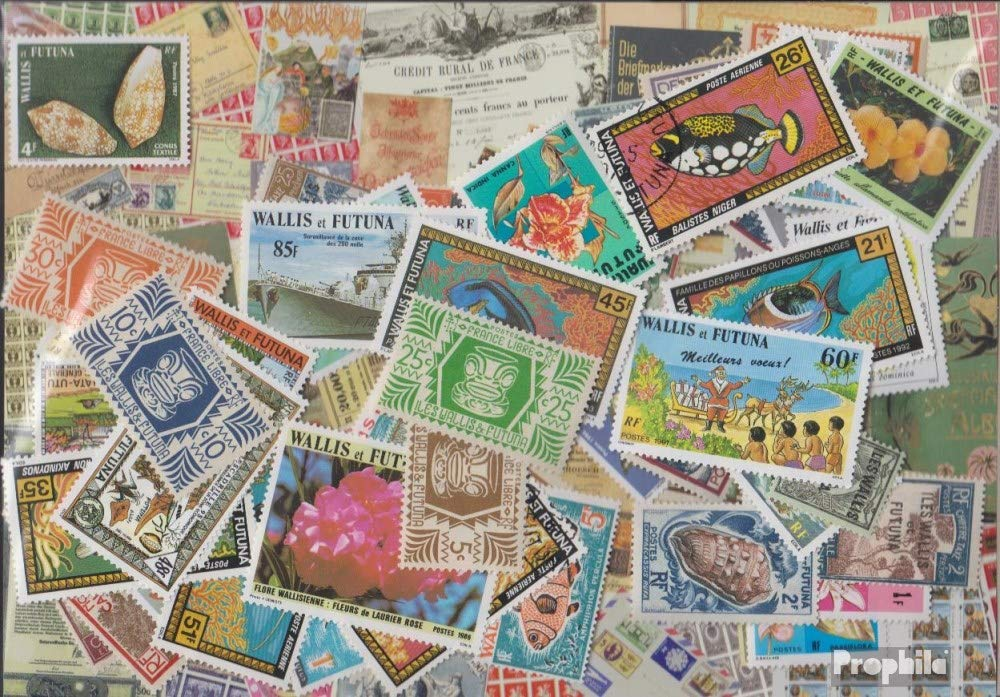Wallis and Futuna 100 different stamps (Stamps for collectors)