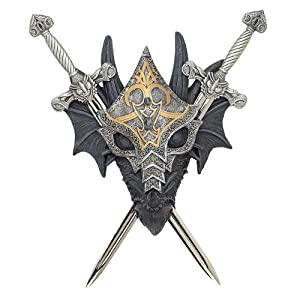 Armored Dragon Wall Crest Castle Theme Decoration Gift