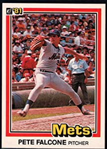 1981 Donruss Baseball #395 Pete Falcone New York Mets Official MLB Trading Card From The Donruss Company in RAW (EX-MT or Better) Condition