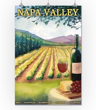 Amazon Com Napa Valley California Wine Country 24x36 Giclee Gallery Print Wall Decor Travel Poster Wall Art